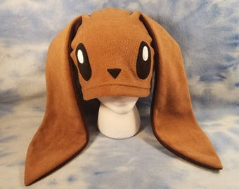 Eevvee Bunny Hat Pokemon Fleece Cosplay