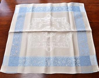 Damask napkins, dinner napkins, blue napkins
