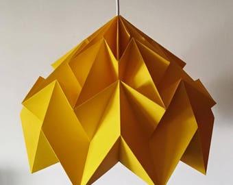 Yellow Sun cascading origami pendant