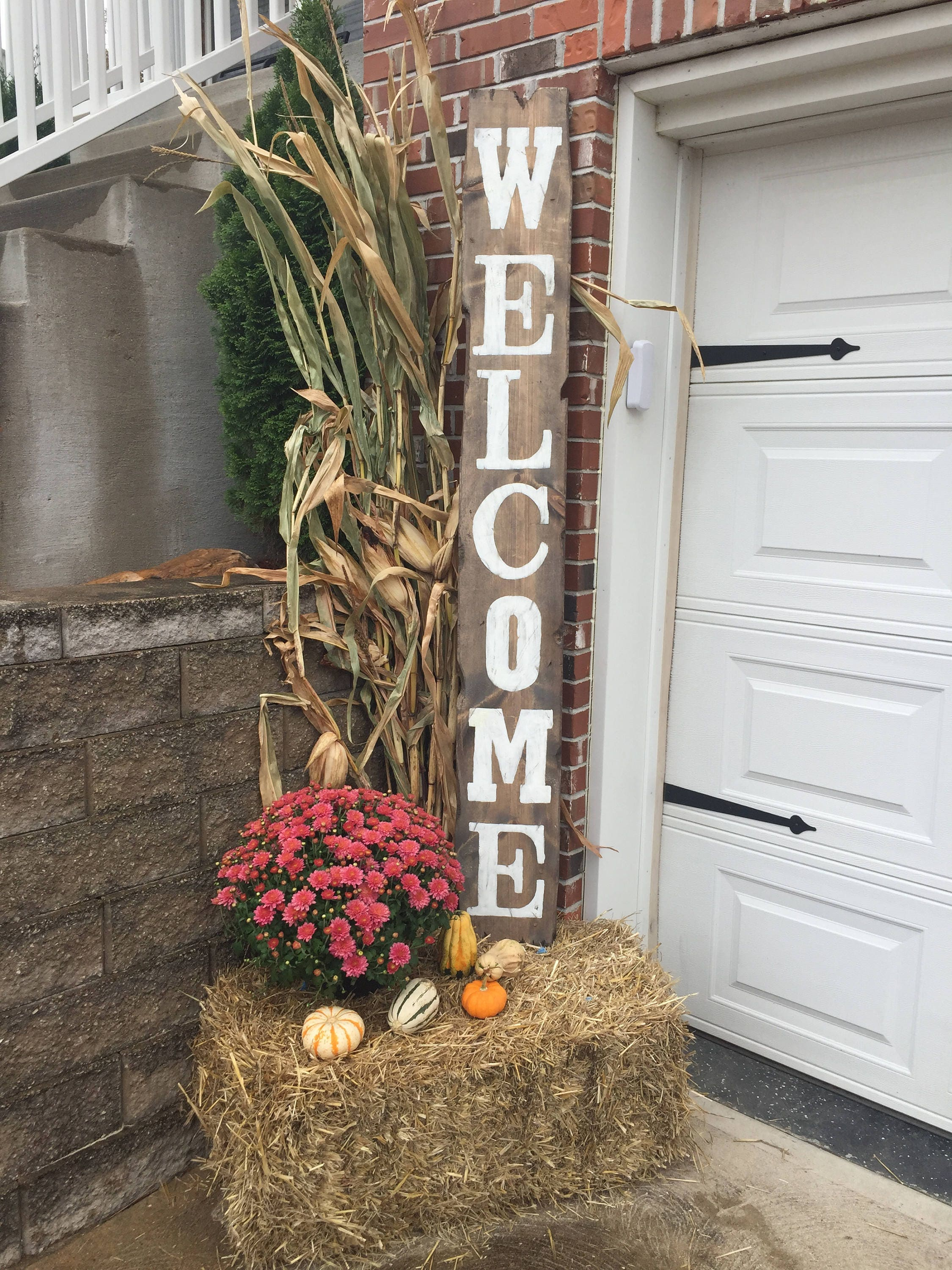 how to make a rustic welcome sign