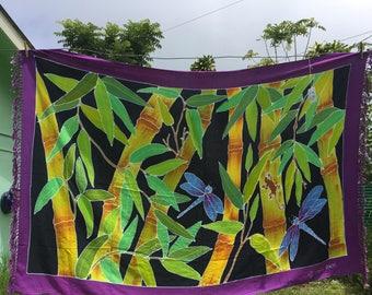 Rayon Sarong Bamboo w/ Dragonfly