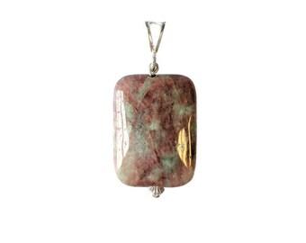 Kashgar Garnet Silver Pendant