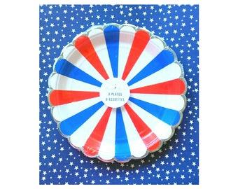 Patriotic. Meri Meri. Fourth of July. Red white and blue. July 4th. America. USA. July Birthday. American. Meri Meri Fourth of July