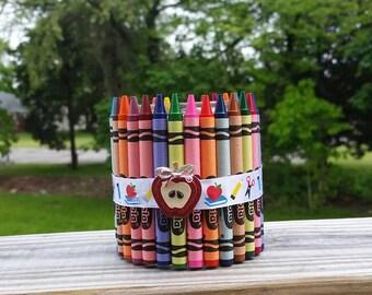 Crayon Pencil Holder    Teacher Gift    Teacher Appreciation    Back to School    End of School    Graduation    #1 Teacher