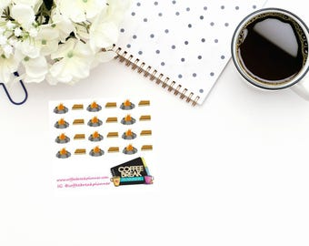 Planner Stickers  Camping Stickers  Fire Pit Stickers Smores Stickers  Outdoor Stickers  Campfire Stickers Mini Sheet Fire Pit and Smores