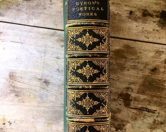 Byron, antique poetry book, romantic poet, 19th Century book, British Poet, Collectible poetry, Shelley, antique book, Lord Byron