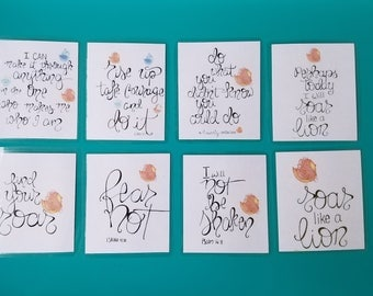 Bravely,Roar Cards,Strength,I can do all things, philippians 4:13, lion,hand lettered, hand drawn,cards, bravely collection, faith
