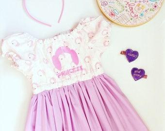 Star Wars Dress, Pink Star Wars Dress, Princess Leia Dress, Princess Dress, star wars toddler dress, star wars theme, 3T, Ready to Ship 3T,