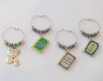 Shakespeare Book Set / Wine Charms