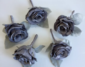 A beautiful Grey Rose buttonhole