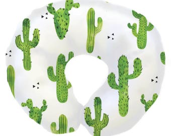 Cactus | Modern, Cacti, Tribal, Gender Neutral Nursing Pillow Cover