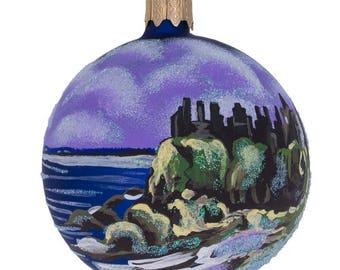 "3.25"" Ireland Castle by Ocean Glass Ball Christmas Ornament"