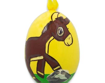 "3"" Donkey Wooden Christmas Ornament"