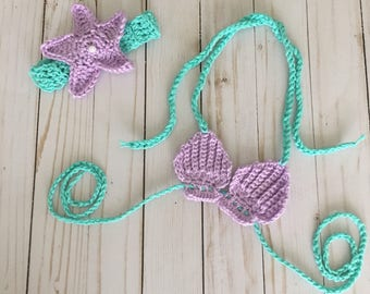 Mermaid photo prop, mermaid costume, baby mermaid outfit
