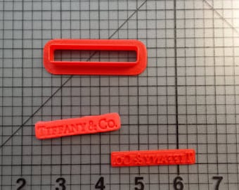 High Fashion T Cookie Cutter and Stamp