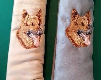 Embroidered German Shephard Seat Belt Pad