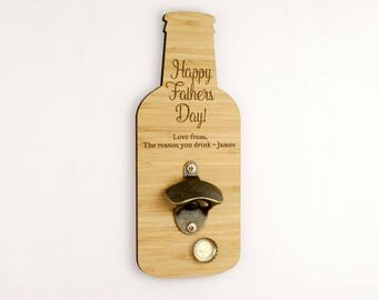 Wall Bottle Opener - Fathers Day Gift