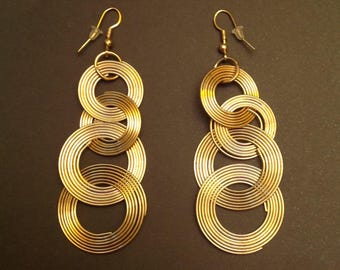 Earrings with Golden circles