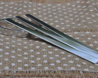 100 Polished 3/8' x 6' Bracelet Cuff Blanks 14 Gauge 1100 Food Safe Aluminum- FLAT