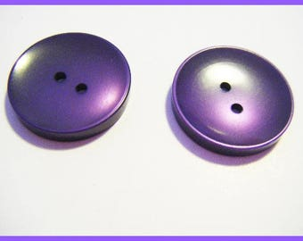 Purple set of 2 vintage buttons
