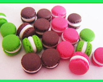 ♥ 20 macarons Fimo polymer clay for jar ♥