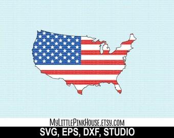 States Svg United States Svg USA Svg States Cutting - Outline of us map svg