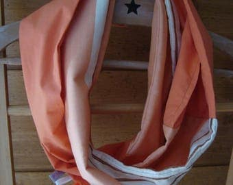"""Two tone Orange"" Snood"