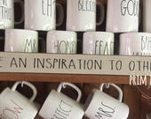 be an inspiration to others // shelf sitter // sign stick