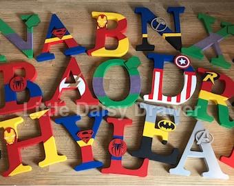 Large Freestanding Superhero Letters
