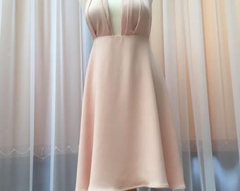 Pale  Pink dress, party dress, bridesmade dress, occasion dress.