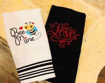 Valentines Dishtowels