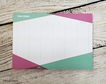 "Notepad Weekly Plan Desk Pad ""geometric"" A5"