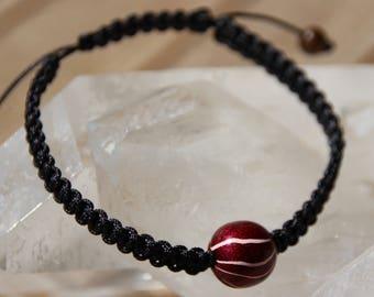 ethnic shamballa bracelet with Tibetan bead