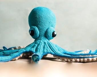 Squid Octopus crochet toy, plush, amigurumi, decor