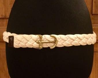 Vintage J. Crew Anchor Buckle Woven Belt