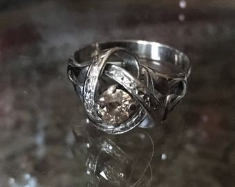 Vintage champagne diamond ring