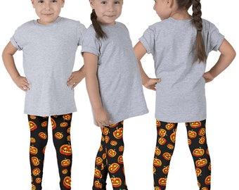 Halloween pumpkins kids leggings from my art