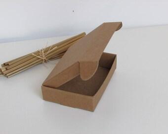 10 boxes foldable Kraft cardstock paper, black - cardboard gift box