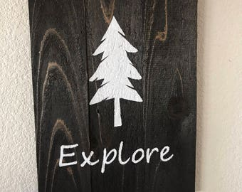 Explore Woodland Wall Sign