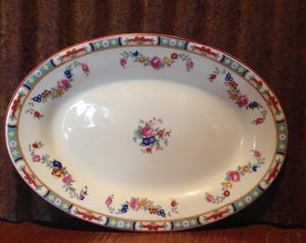 "George Jones, Crescent & Sons Ivory, ""The Rosedale""- 10""Platter, Made in England"