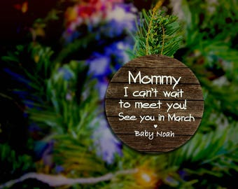 Pregnancy Ornament Mom To Be Ornament Expecting Ornament Expecting Christmas Ornament Expecting Mom Gift Soon To Be Mom Ornament Gifts