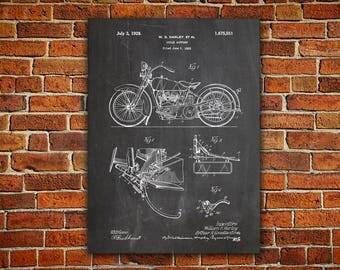 Harley Art Digital Download, Model JD Patent, Model Jd Poster, Harley Wall Decor, Davidson Decor, Harley Poster, Harley Jd, Model Jd