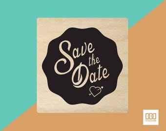 Save The Date-1 - 6cm Rubber Stamp (DODRS0016)