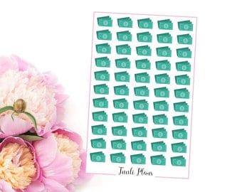 Planner stickers: green dollar bill | Perfect for your filofax / erin condren planner etc