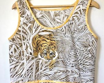 Tiger Print Smock Dress Summer Frock