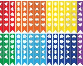 Checklist Planner Stickers-Rainbow
