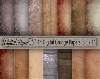 SALE Printable Grungy Textures, Grunge Printable Background, Grungy Scrapbook Paper, Grungy Digital Paper, Instant Download, Commercial P 89