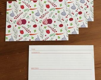 Vegetable Garden Recipe Cards
