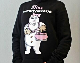 Miss Snowtorious™ - Hoodie Dress - Christmas Sweater