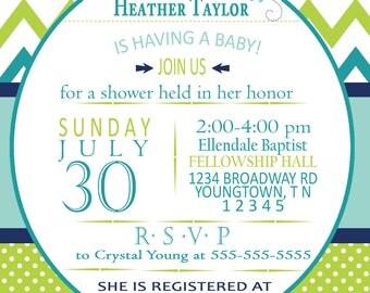 Turtle Baby Shower Invitation
